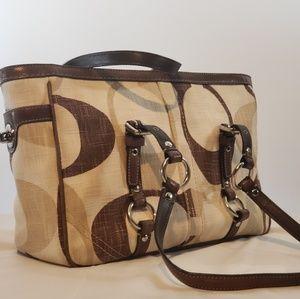 Coach Canvas Tonal Tote Bag